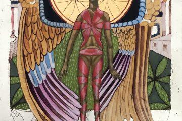 Engel met Flower Of Life.