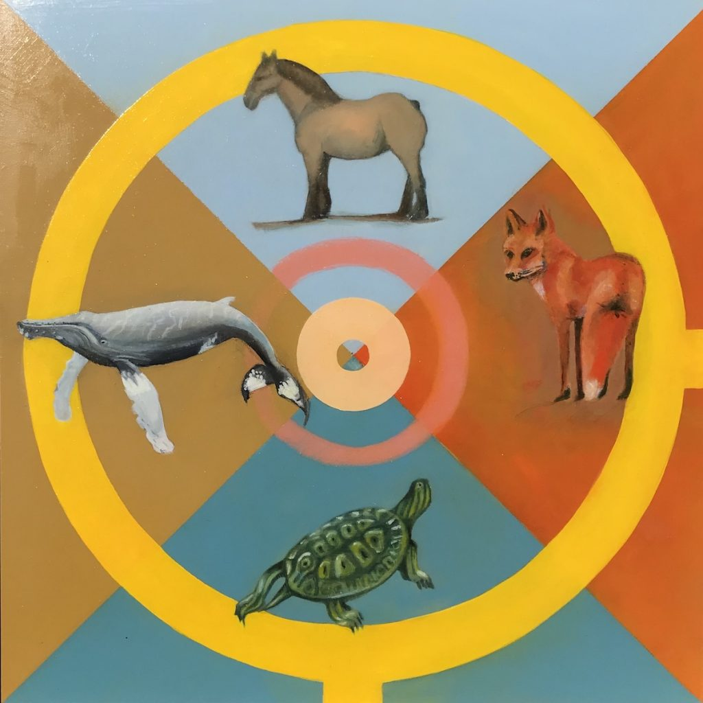 Medicijnspiraal, Totemdieren, Chakra III, Geel.